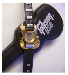 Gibson Guitar Watch Les Paul SG 61 Reissue Gold Silver Wristwatch Mens