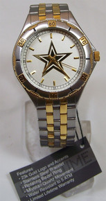 Dallas Cowboys Watch Game Time Gold Logo General Managers Wristwatch