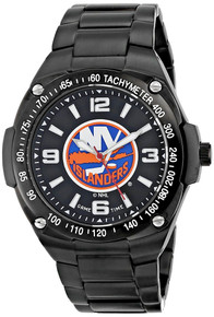 NY New York Islanders Watch Mens NHL Black Stainless Gladiator Wristwatch
