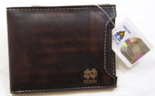 Fossil Notre Dame Wallet Mens Bifold 2 in 1 Brown Leather Billfold