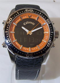 Callaway Watch Mens Digital Analog dual Wristwatch on Leather CY2074