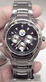 Pittsburgh Steelers Fossil Watch mens multifunction wristwatch NFL1033