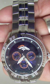 Denver Broncos Fossil Watch Mens Multifunction II Wristwatch NFL1168