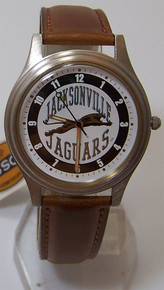 Jacksonville Jaguars Jax Jags Fossil Watch Vintage 1993 Brown band