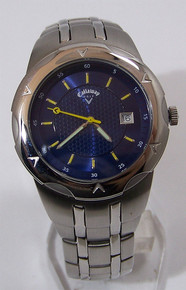 Callaway Golf Watch Mens Three Hand Date Golfer Blue Wristwatch CY2005