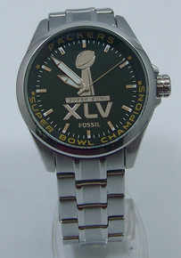 Fossil Green Bay Packers Super Bowl XLV 45 Championship watch mens New