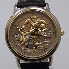 Football Players watch Fossil vintage Brass Football Action Wristwatch