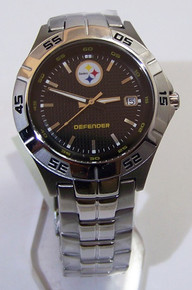 Pittsburgh Steelers Fossil Watch Mens 3 Hand Date Wristwatch Defender