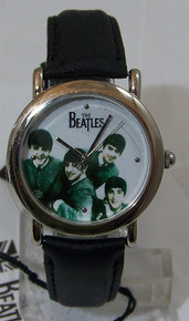 The Beatles I Want to Hold Your Hand Watch Sepia in Wooden Guitar Case