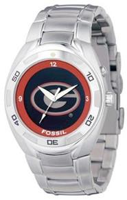 Georgia Bulldogs Fossil Watch Mens Flashing logo Kaleido Wristwatch