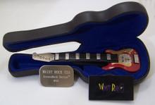 WristRock Guitar Watch Red Gold Fender Strat Style Novelty Wristwatch
