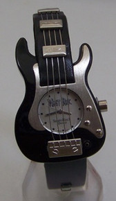 WristRock Guitar Watch Black Fender Strat Style Novelty Wristwatch