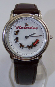 Budweiser Rotating Clydesdales Watch Novelty Animated Wristwatch