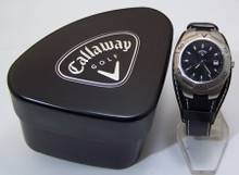 Callaway Golf Mens 3 Hand Date watch with dual 18 mm or wide cuff band