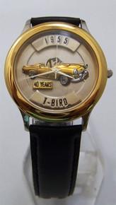 T-Bird Fossil Car Watch Relic 1955 Ford Thunderbird Auto Wristwatch