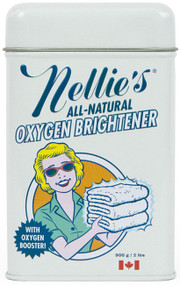 Oxygen Brightener: (60 Scoops) Sure, oxygen is 'most popular' for maintaining life on Planet Earth… but have you discovered its second most popular (according to us) use?  We have!  Nellie's Oxygen Brightener uses the power of oxygen to penetrate stains, stripping away dirt, odor and grime, and keeps your colors bright and your whites white. Our chlorine-free formula is color-safe, septic-safe, hypoallergenic, environmentally-friendly and biodegradable. You're welcome, Planet Earth.  WHY POWDER? Liquid detergents are made up largely of water. At Nellie's we don't think selling and moving water around the planet is a very good idea. The fact is, more cleaning power can be packed into a smaller space using powder.