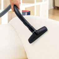 This extra wide cleaning tool makes easy and faster work of pulling stubborn pet hair, lint and dirt from upholstery and curtains.