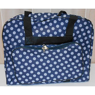 "Hemline Sewing Machine Tote Bag: $29.95 This delightful Hemline tote bag offers the sturdy and robust storage that you require for your machine in a playful white dotted pattern - that is available in 4 colors. The entire collection has the sturdy construction and attention to quality for which Hemline Machine Luggage is famous. Features: Top zips open for easy access to internal compartments Sturdy dual handles with Hook & Loop closure Hook & Loop safety strap secures your machine Strong back support Comfort grip handles Easy glide heavy duty zippers Pillow soft padded walls with a protective nylon lining Large storage pocket with extra padding ​                                        Dotty Tote Bag Dimensions:                                             Across the front: (length) 19""                                             Front to rear: (width) 8""                                             Height: 14""                                 Colors: Black, Navy, Grey and Mauve.​"