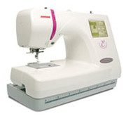 Janome's quality mid-line embroidery machine.   Embellished objects reflect your personal sense of style. The 350E makes it easy to embellish home decor items, garments, or accessories - just snap in your hoop and press a key. The 350E is our most advanced embroidery-only machine. Make ready to wear garments uniquely yours, monogram pillowcases and towels for a thoughtful gift: the 350E does it all, you just change the thread!