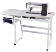 Horizon/1600/6600/7700 Table $599 This custom Janome table was developed for the new Janome professional machines.  They come with a insert and are ordered by your Janome model number. These table can used with any brand or model and will accommodate a knee lift and provides a flat sewing area conducive to quilting.