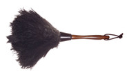 """13"""" Ostrich Feather Duster: Handy, versatile size duster. Great for dusting delicate items."""