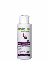Wine Stain Eater removes red wine stains in seconds. Keep it in your purse or car to clean up life's little messes!  Use this green, natural, product to effectively eliminate red wine stains and more in seconds!