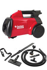 The Sanitaire SC3683 is the correct companion vacuum for any Sanitaire upright. They are the correct vacuum for detailing baseboards, window sills, window coverings, walls, ceilings, furniture, book shelves and auto interiors.