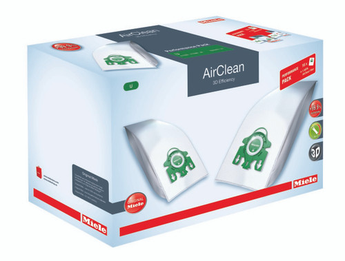 Performance Package includes 16 Genuine Miele U1 AirClean bags plus 1 Genuine Miele Type 30 Hepa  Filter. A $139.95 VALUE!
