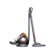 Dyson Vac: VAC, CANISTER CY22 ANIMAL The only vacuum that self-right when toppled. Articulating handle. Quick release tools. Ball technology. Dual mode floor tool. Hygienic dirt ejector. Larger, high-capacity bin. Accessories include stiff bristle brush and tangle free turbine tool. 5 Year warranty Quiet 82 dB operation.