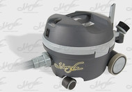 Powerful motor in a compact vac. Low noise level, 57 db, Very Professional presentation.