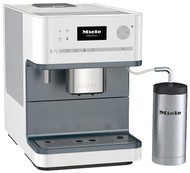 """Miele CM6310 White - For more enjoyment together:  All bean-to-cup coffee machines are equipped with the new OneTouch for Two function as well as with the already familiar OneTouch feature. This function allows you to make two delicious coffee specialities at the same time by simply touching a button. The program starts automatically. """"Because preparation takes less time, you have more time together."""""""