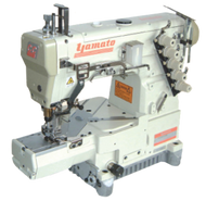 Yamato Automatic Industrial Cylinder Arm Coverstitch Machine. Yamato cylinder bed design provides you with easier operation. At the same time, this model is equipped with all kinds of fabric guides for hemming and covering. Besides, the automatic thread trimmer helps you for further cost saving. machine can perform general seam, hemming and covering – High versatility and user friendly features In addition to its easy-to operate cylinder bed, Yamato CC is equipped with various fabric guides as standard, and makes it applicable for easy hemming and covering.