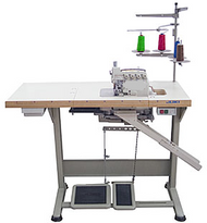 We have an Artisan OLV4 - 4/thread serger with oil bath. This machine is new old stock. It is complete with a new clutch motor power stand. It is similar to the machine pictured. We are seeking a good home. No reasonable offer refused. Now on clearance. Cash and carry. The machine will come with a one year NS&V shop guarantee. This would be a great addition to a drapery work room or a production garment producer. Bring a sample of your material and try it out. We will not ship this machine. The new owner can take it home or arrange for deliver with our shop staff. Cash and carry only.