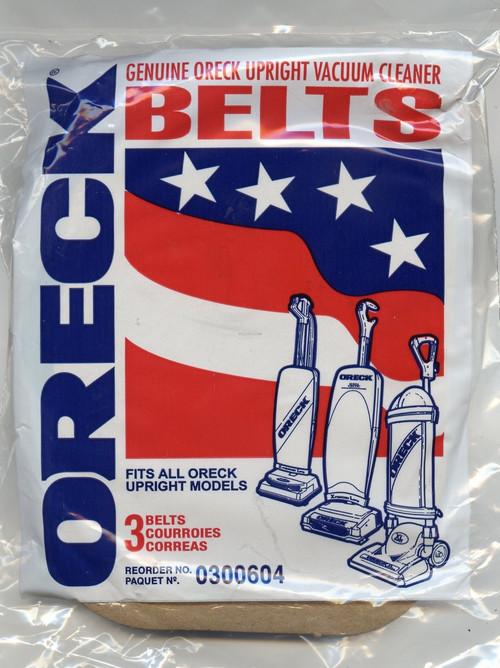 3/ pack of Oreck XL rubber belts.