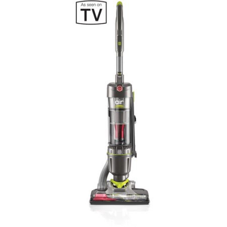 Swivel & Twist with a Flick of the Wrist. Manage your cleaning tasks with a lightweight and easy maneuverable vacuum. The Hoover Air Steerable Bagless Upright UH72400 is your answer to whole-home cleaning. Easily clean from room to room and go up or downstairs with this lightweight design. It also comes equipped with WindTunnel 3 Technology that lifts and removes deep down embedded dirt with 3 channels of suction. The steerable design allows you to swivel and turn around objects with a flick of the wrist and the body reclines all the way to the floor to reach under furniture easily. The Hoover AirSteerable also has a telescopic handle with built-in wand that detaches with one simple touch, multi-floor brushroll on/off option allowing you to easily move from carpet to hard floors, a clear nozzle and a no-scuff bumper. And when you're done vacuuming, simply empty the debris with its convenient bottom-release cup.