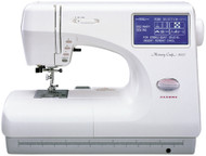 Used Janome Memory Craft 9000 The Memory Craft 9000, like other Memory Crafts, is recognized through the sewing industry for ease of operation, precise stitching and embroidery. All sewing functions are easy to access via the extra-large Visual Touch Screen. The Memory Craft 9000 remembers your stitch combinations so you don't have to.