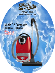 """Limited to inventory on hand: This Complete C2 includes an AllTec SBD 285-3 Combination Floor Tool, the SBB300 deluxe Parquet Twister, 6 suction control / motor speed settings, Integrated """"On Board Covered Tool Storage with 3 tools (dusting brush, crevice tool and upholstery tool). The machine is equipped with 3D Air Clean bag and Air Clean Filter installed. This model has a 32 foot cleaning radius and includes a 23 foot retractable cord. HEPA Filters are optional but can easily be installed."""