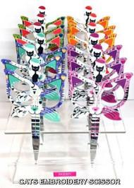 """Cat Scissor - Assorted colors Cat Scissor - 3.5"""" Butterfly Embroidery scissor"""