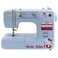 The Janome Hello Kitty 13512 sewing machine is not only cute, but it's durable, too! The interior metal frame keeps the machine still to avoid skipped stitches. Customizable features like the 15 stitches, four-step buttonhole, adjustable stitch length and zigzag width give you the freedom to create your unique designs. Advanced features like to free arm for small projects and ensure that this is a sewing machine you can grow into. Four presser feet included!