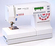 The Pfaff 7530 Quilt and Craft Pro is one of the last machines produced in Germany.  It is heavy duty, precision and an amazing sewing machine to use. This machine does have the DUAL FEED (IDT) system that Pfaff is known for.