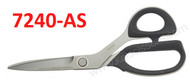 The Kai 7240-AS scissor is ideal for aramid fabrics.  This category of difficult fabrics has given rise to the high quality Kai 7240AS.  With it's serrated blade and high carbon, hardened stainless steel blades, fabrics like Kevlar®, Nomex®, Carbon-Fiber,  Dyneema®, Spectra®, Carbon Fiber, Fiberglass, and Fire Resistant Fabrics are easily cut.  So, whether you are cutting industrial fabrics to light satin's, the Kai 7240AS is the right tool for the job.