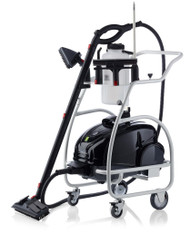 The Brio Pro 1000CC takes on the most challenging cleaning and sanitizing jobs with ease. From hospitals and schools to restaurants and hotels the 1000CC beats the performance and price of comparable machines in the steam-cleaning category. Combined with a trolley to hold a refillable water bottle and all acceSsories, it makes cleaning even more convenient!