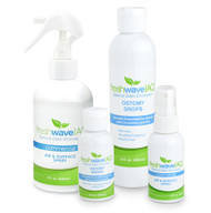 Ostomy Odor Removing Kit SKU: 519 Our Ostomy products are available in a convenient kit, perfect for addressing all of your odor removal needs. The 2 oz. size of the Ostomy Drops can go with you wherever you travel, allowing odor control in any situation, and the 8 oz. size is ideal for home use. The 2 oz. Air and Surface Spray can be used to remove odors anywhere, and its size is travel-friendly and discreet. Keep the 8 oz. Spray at home for instant odor removal whenever you need it.
