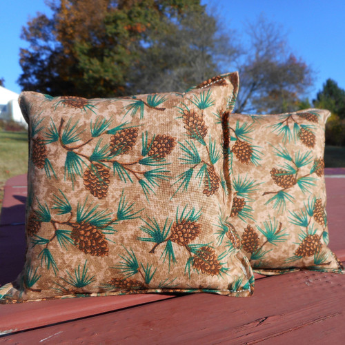 Pine Cone Balsam Small Pillow