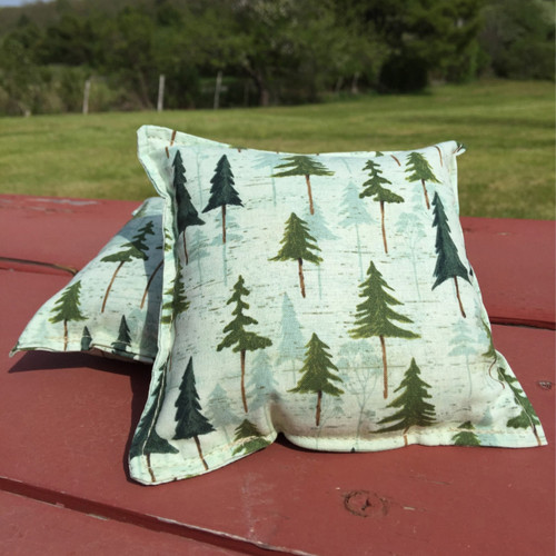 Balsam and Spruce drawing Small Pillow