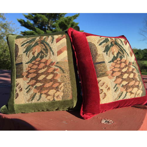 Pine Cone Medium Tapestry Pillow