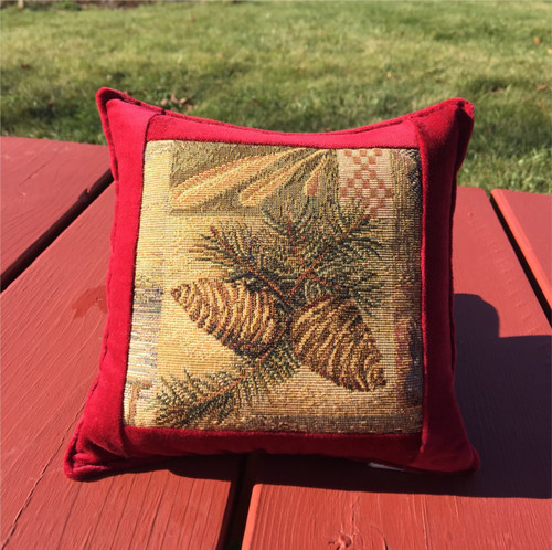 Scotch Pine Cone Tapestry Pillow