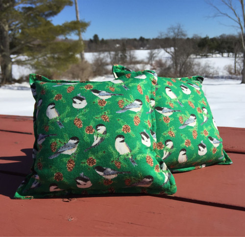 Chickadees Balsam Small Pillow