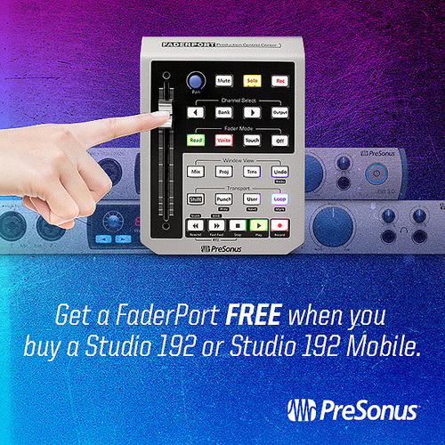 FREE FADERPORT with purchase of Studio 192 and Studio 192 Mobile