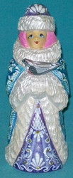 FABULOUS BLUE & WHITE HAND PAINTED RUSSIAN SNOWMAIDEN
